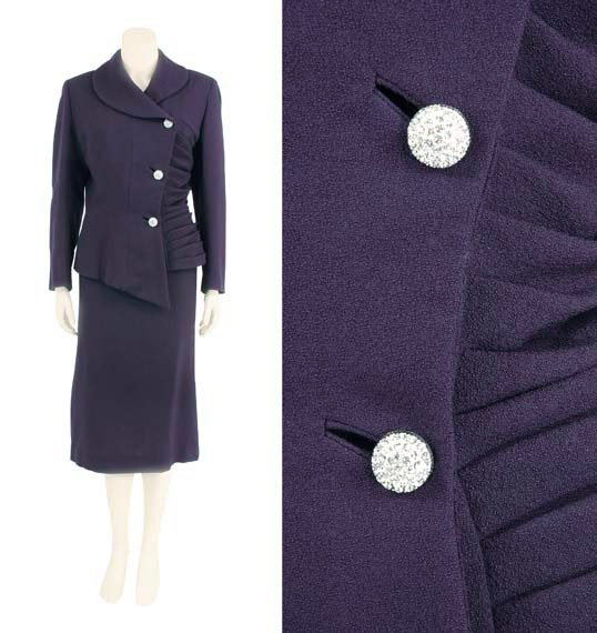 25: Lilli Ann Navy Wool Crepe Suit