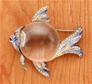 176: Corocraft Adolph Katz Lucite Fish Pin