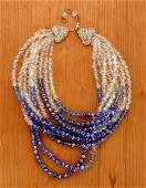 200: Coppola e Toppo Ombre Blue Bead Necklace