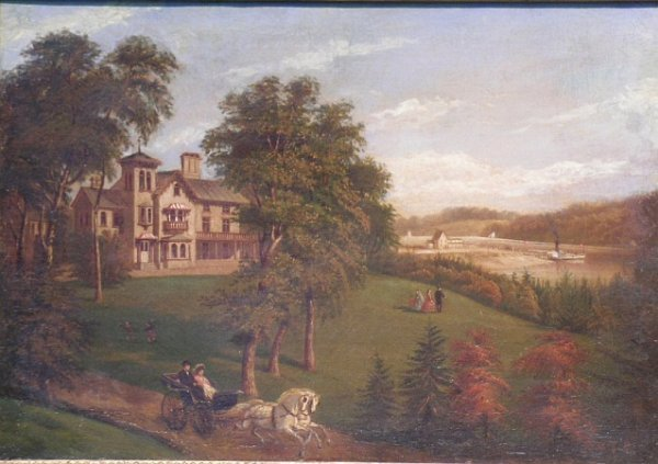 2016: American School 19th Century VIEW OF A RIVERSIDE