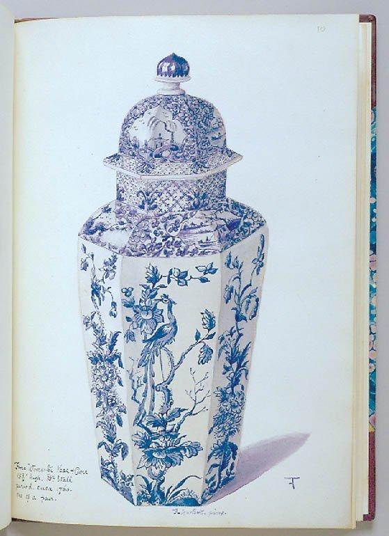 3003: HURLBUTT, FRANK  Album of 14 original watercolors