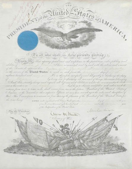 3006: Abraham Lincoln, Document signed 25 February 1862