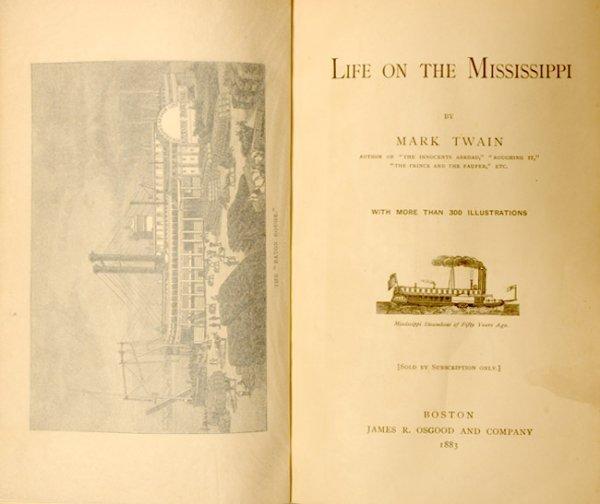 3021: CLEMENS, SAMUEL L. [MARK TWAIN] Life on the Missi