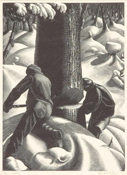 3212: Clare Leighton CUTTING Wood engraving