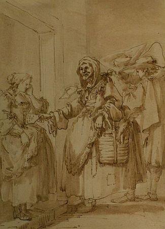 1: Circle of Giovanni Domenico Tiepolo THE LETTER