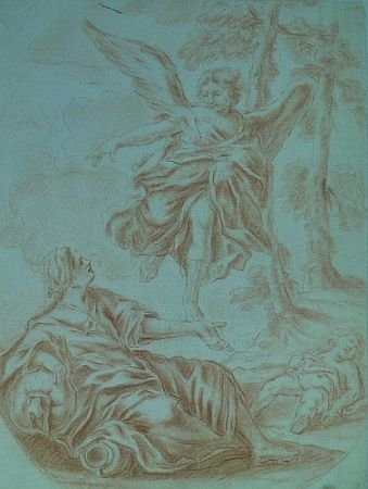 2: Italian School  18th Century THE ANGEL APPEARING TO