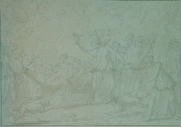8: French School 18th Century DIANA AND HER NYMPHS HUNT