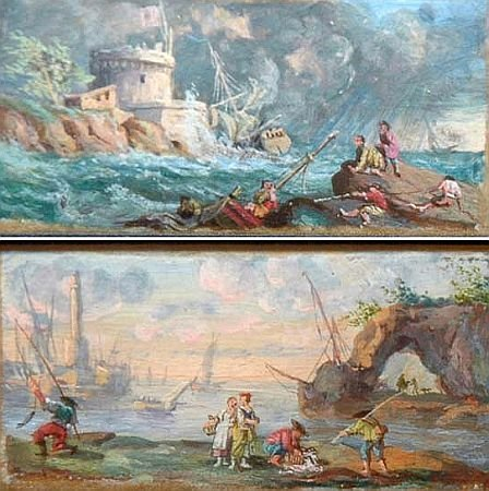 11: Follower of Claude Joseph Vernet SHIPWRECKS WITH FI