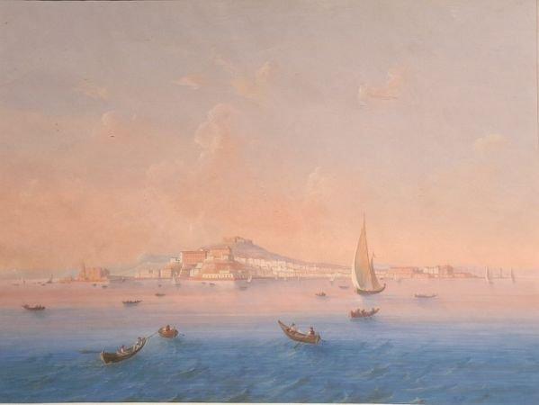 12: Italian School 19th Century THE BAY OF NAPLES