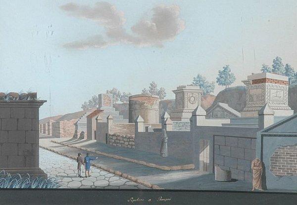 13: Neapolitan School 19th Century VIEWS OF POMPEIAN RU