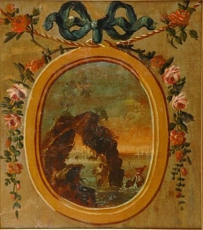 19: French School Late 18th century GARLANDS, FLOWERS,