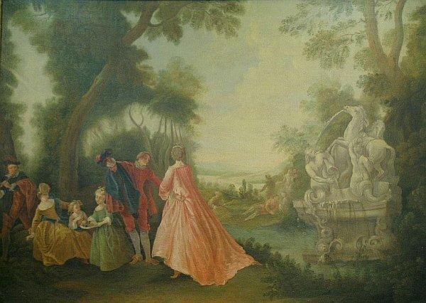 23: Follower of Jean-Baptiste Pater FETE GALANTE