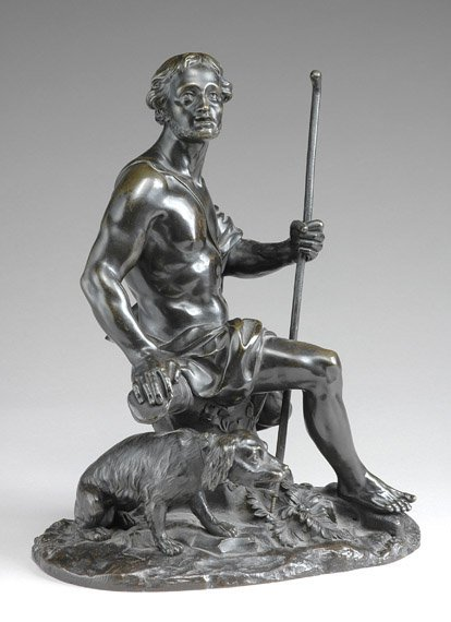 259: French Bronze Figure of a Youth