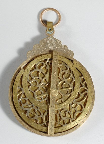 281: Middle Eastern Polished Brass Astrolabe