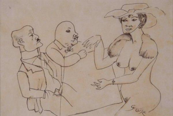 1002: George Grosz German/American, 1893-1959 THREE FIG