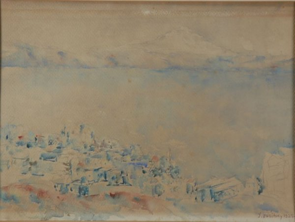 1004: Yosef Zaritsky Israeli, 1891-1985 LANDSCAPE WITH
