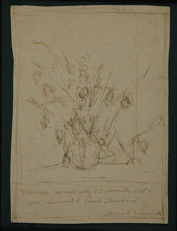 1005: Alberto Giacometti Swiss, 1901-1966 EN PENSANT A