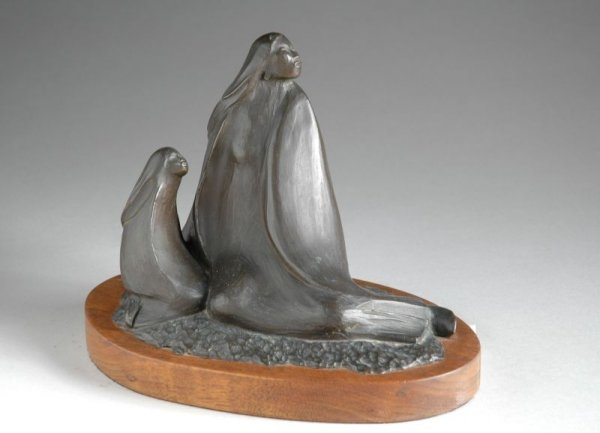 1024: Allan Houser American, 1914-1994 MOTHER AND CHILD