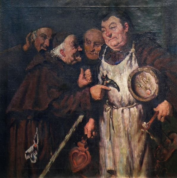 2007: Adolf Humborg Hungarian, 1847-1913 MONKS IN THE W