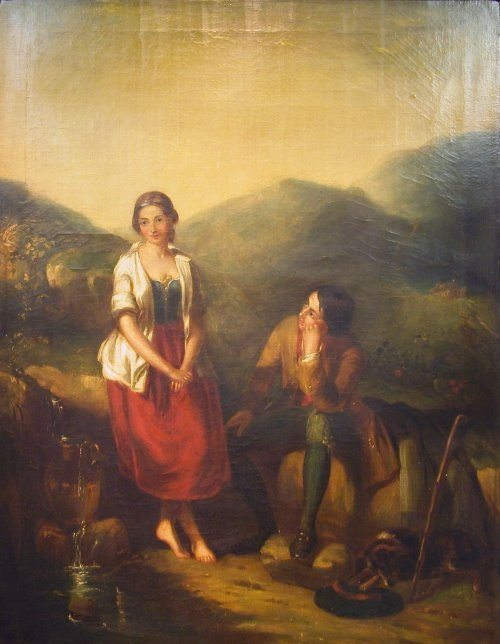2011: Scottish School 19th Century YOUNG COUPLE IN THE
