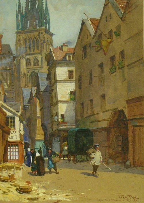2021: (i) Fred Roe British, 1865-1947 ROUEN STREET SCEN