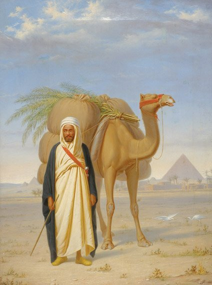 2022: Giuseppe Bonnici Italian, 1834-1900 AN ARAB TRAVE