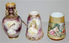 2091 Group of German Gilt Decorated Porcelain Vases