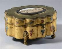 2112 Italian GiltMetal and Enamel Decorated Micromosa