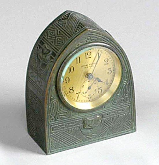 2275: Tiffany Studios Bronze Desk Clock