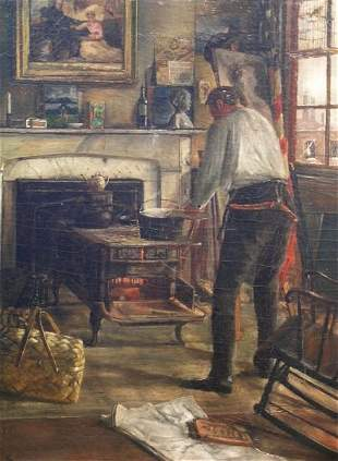 American School 19th Century THE ARTIST IN THE ST