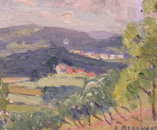 3006: A. Beaumont American, 20th century LANDSCAPE WITH