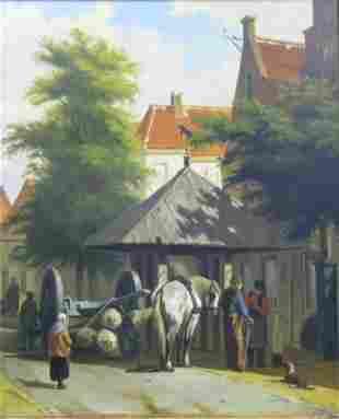 Johan Beekhout Dutch, b.1937 THE LOGGER IN TOWN