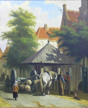 3007: Johan Beekhout Dutch, b.1937 THE LOGGER IN TOWN