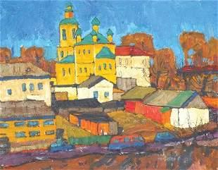 Kim Britov Russian, b.1925 VILLAGE MOSQUE