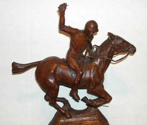 3014: F.A. Brunner American, 20th century POLO PLAYER