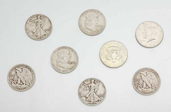 11: Group of U.S. Half Dollar Coins