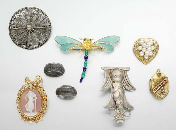 15: Group of Gold, Sterling Silver and Metal Jewelry