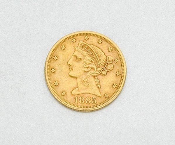 16: U.S. $5 Gold Coin