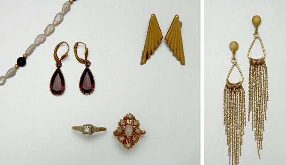 19: Group of Assorted Gold and Metal Jewelry