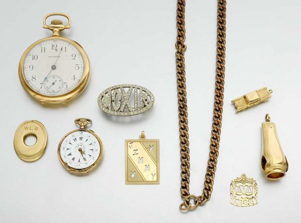 21: Group of Assorted Gold and Metal Watches and Jewelr