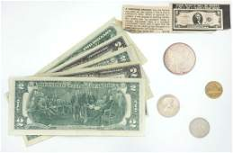 98: Assorted U.S. and Foreign Coins and Paper Currency