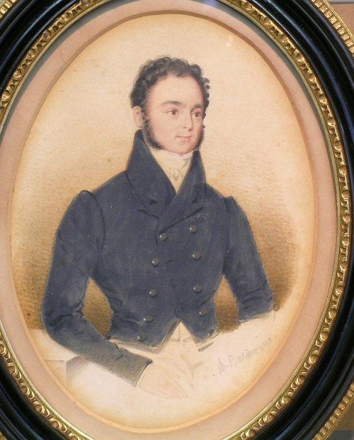 1004: B. Baldwin British, 19th century PORTRAIT OF A GE