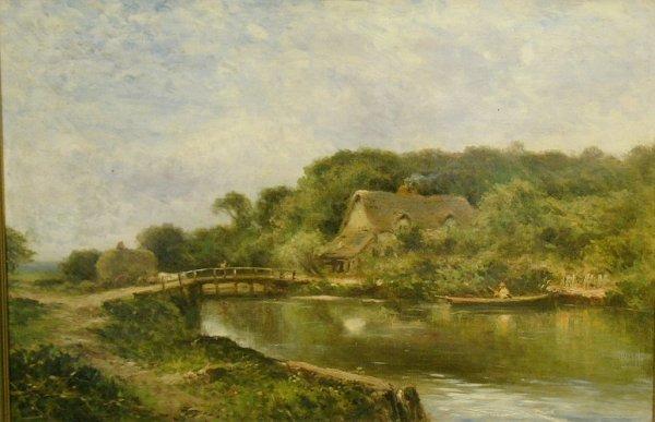 1007: British School 19th Century ON THE RIVER STOUR