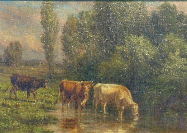 1013: Thomas Bigelow Craig American, 1849-1924 CATTLE A