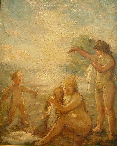 1014: Bernard Dunstan British, b.1920 MOTHER AND CHILDR