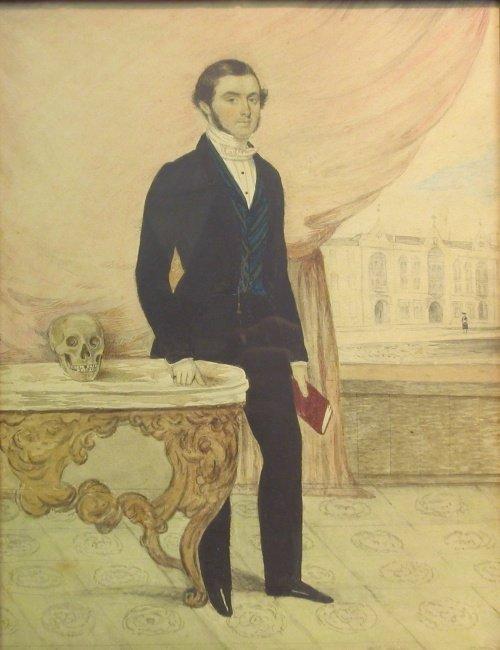 1018: French School 19th Century PORTRAIT OF A GENTLEMA