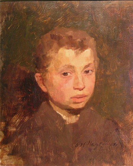 1020: Oskar Hagemann German, 1888-1984 PORTRAIT OF A YO