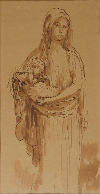 1022: Sir Augustus Edwin John British, 1878-1961 MOTHER