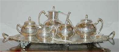 1378: Gorham Sterling Silver Five-Piece Coffee and Tea