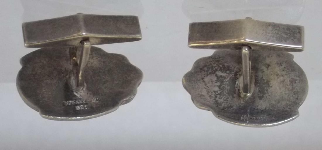 Tiffany & Co Sterling Silver Favrille Scarab Cufflinks - 3